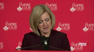 Notley takes shot at both environmentalists and climate change deniers