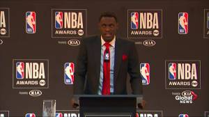 Pascal Siakam says being named Most Improved Player means 'everything'
