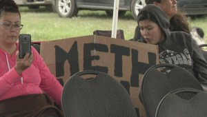 Siksika couple stage protest outside suspected meth dealer's home
