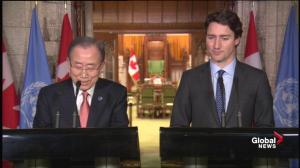 UN Secretary General says Prime Minister Trudeau's leadership was crucial at Paris Climate conference