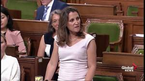 Freeland says Trump tariffs illegal, challenging them at WTO