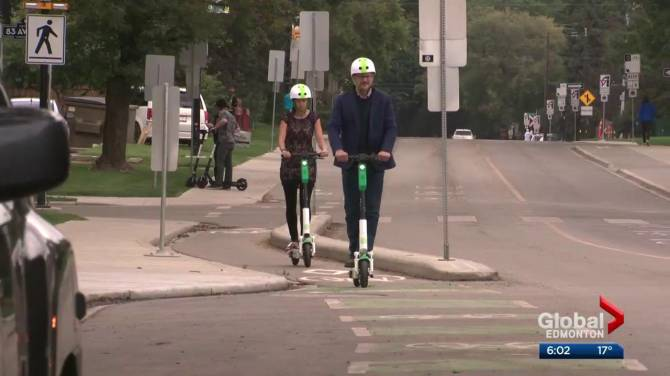 Edmontonians flock to electric scooters during weekend launch