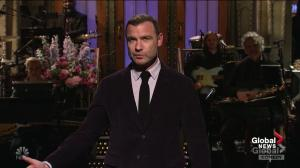 Liev Schreiber thanks Americans for voting in SNL opening monologue