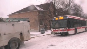 TTC buses in need of a tow as winter storm freezes commutes