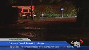 Homes in West Vancouver evacuated due to flooding
