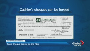 Fake cheque scams on the rise