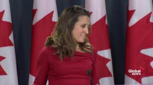 Freeland says Canada is aware of a second Canadian in trouble in China