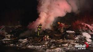 Suspicious debris fire in Lake Country requires backhoe to extinguish