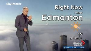 Edmonton region, northwestern Alberta under fog advisory