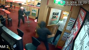 Great grandfather in Ireland fights off robbers who barge into sports betting bar
