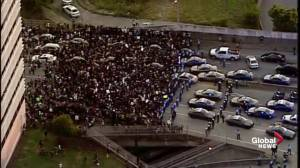 Police block off massive crowd of protesters from Interstate in Atlanta