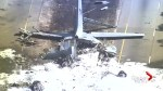 Aerials show crashed military plane in Georgia