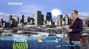 Edmonton morning weather forecast: Sunday, April 1, 2018