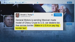 Donald Trump focuses on GM, pushes to have manufacturing done in U.S.