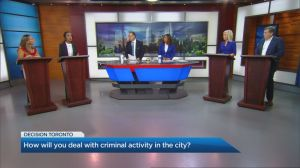 Toronto mayoral candidates face off in Global News debate