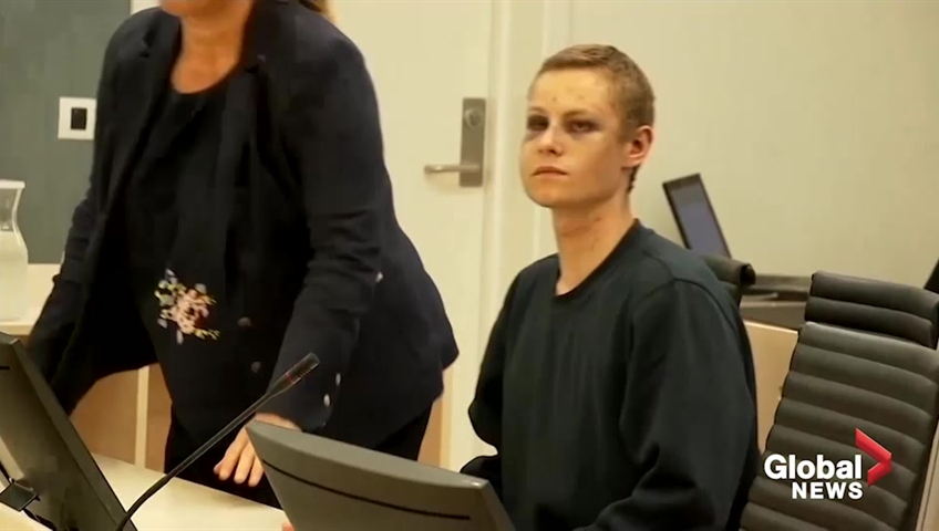 Smiling in court, suspected Norway mosque gunman chooses to stay silent