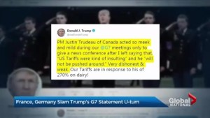 Donald Trump and Justin Trudeau face off over trade
