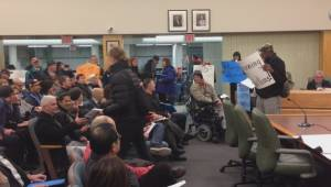 Police called to Burnaby housing meeting