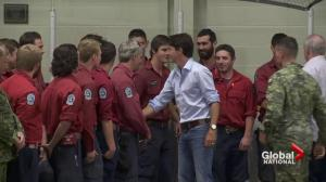 Prime Minister Justin Trudeau visits B.C.'s wildfire zone