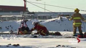 Man rescued from underground pipe at Lethbridge construction site