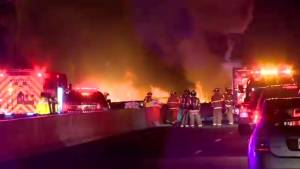 Highway 400 crash witness says he could feel explosions in his car