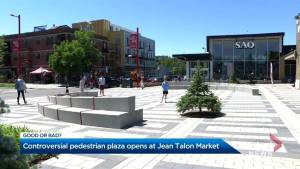 New pedestrian plaza opens at Jean-Talon market