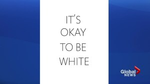 'It's okay to be white' signs posted at U of T