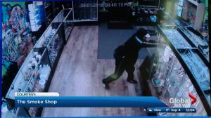 Whyte Avenue smoke shop vandalism caught on video