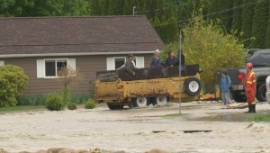 Fifty-four properties now on evacuation order in Okanagan Falls after Shuttleworth Creek breached its banks
