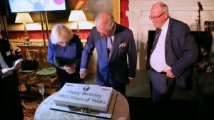 Prince Charles attends special tea party to celebrate 70th birthday