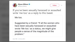 #MeToo hashtag illustrates prevalence of sexual assault and harassment