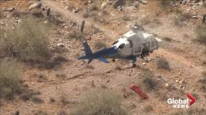 75 year-old rescued hiker okay after basket spins uncontrollably at end of helicopter winch