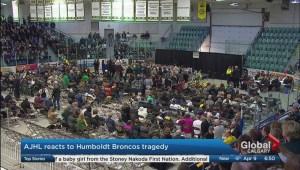AJHL reacts to the Humboldt Broncos bus crash tragedy