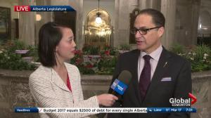 Alberta Budget 2017: Finance minister on Global News Morning