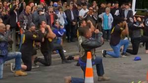 New Zealand shooting: Bikers perform Haka at memorial for victims