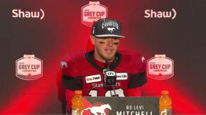 Calgary Stampeders quarterback says he's thrilled to win Grey Cup for coach Dave Dickenson
