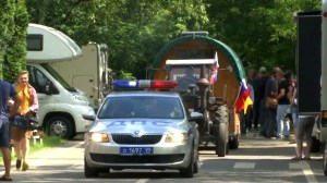Man from Germany drives tractor to Russia for World Cup to cheer on German team