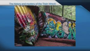 Whistler train wreck mystery draws visitors into old-growth forest (03:19)