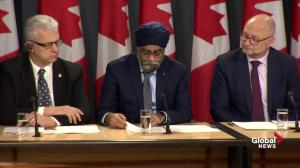 Sajjan says they are working to hire more pilots for new fighter jets