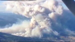 Wildfire burning near Princeton has grown to 1,500 hectares