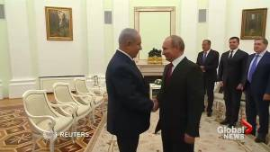 Netanyahu meets Putin, says Israel shot down Syrian drone