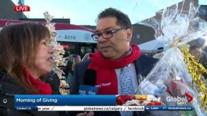Calgary Mayor Naheed Nenshi stops by Morning of Giving