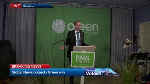 Paul Manly's victory speech in Nanaimo-Ladysmith byelection