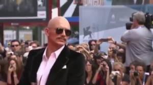 James Franco's bizzare new looks turns heads at Venice, Toronto film festivals