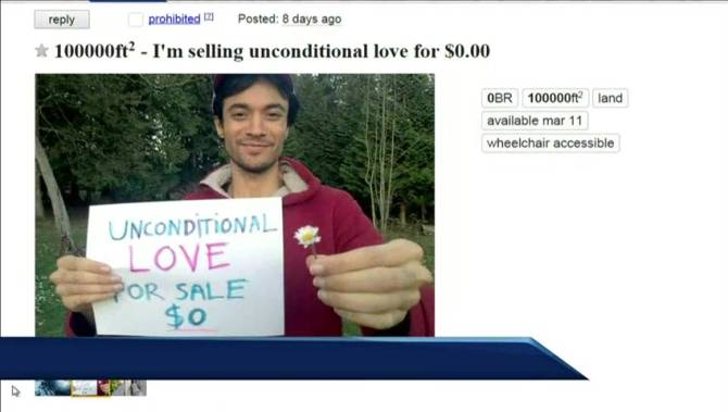 Vancouver man's ad selling unconditional love on ...