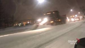 Snow plows tackle latest winter blast in Winnipeg
