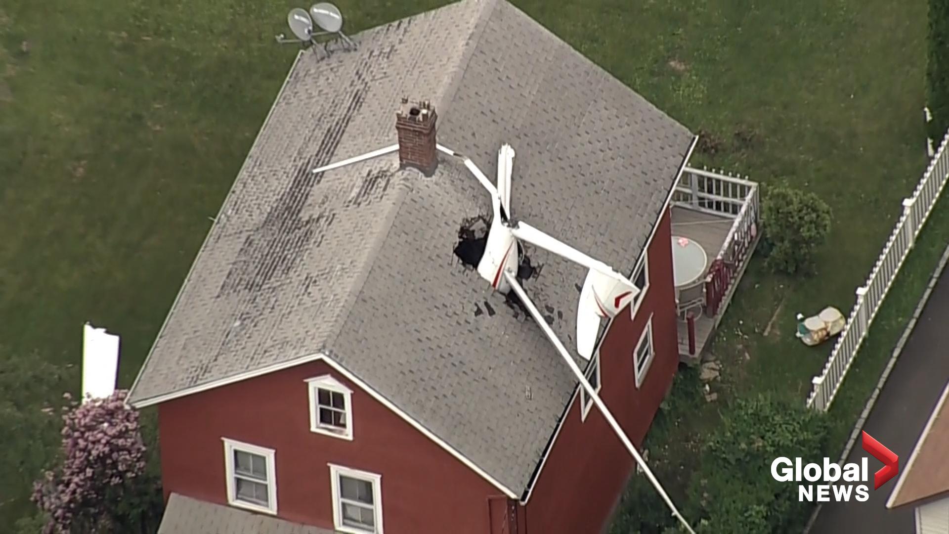 Glider plane crashes into Danbury home