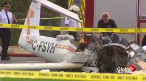 Stolen plane crash lands in Peterborough, Ontario killing pilot
