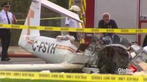 Stolen plane crash lands in Peterborough, Ontario killing pilot (02:05)