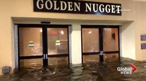 Hurricane Nate storm surge floods Golden Nugget casino in Mississippi